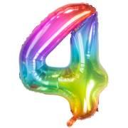 Ballon Géant Rainbow Chiffre 4 - 81 cm