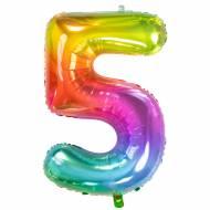 Ballon Géant Rainbow Chiffre 5 - 81 cm