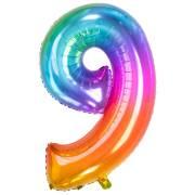 Ballon Géant Rainbow Chiffre 9 - 81 cm