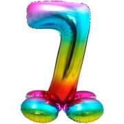 Ballon Géant Rainbow Chiffre 7 avec base (81 cm)