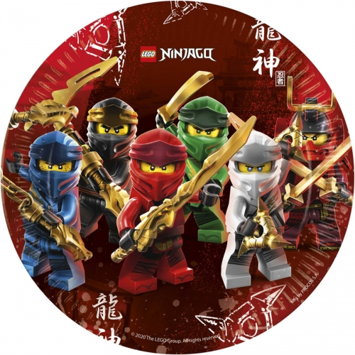 8 Assiettes Ninjago - Compostable