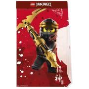4 Pochettes Cadeaux Ninjago