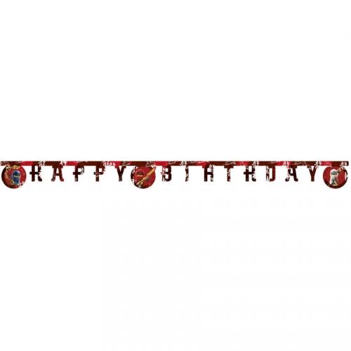 Guirlande Lettres Happy Birthday Ninjago