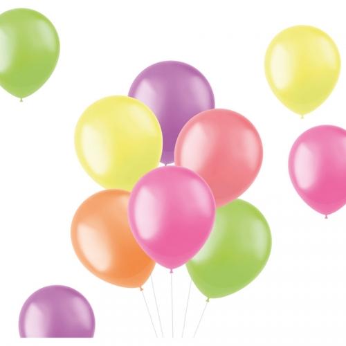 Bouquet 10 Ballons - Néons