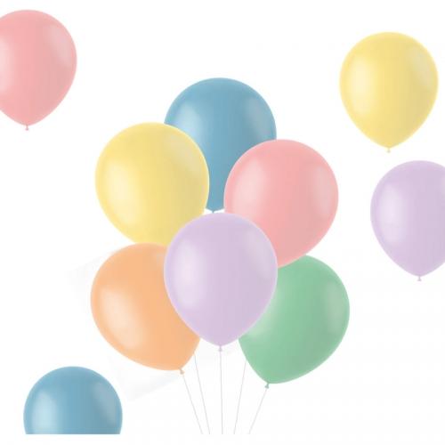 Bouquet 10 Ballons - Pastels