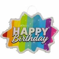 Pinata Star Rainbow Happy Birthday (38 cm)