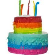 Pinata Gâteau Rainbow Happy Birthday (25 cm)