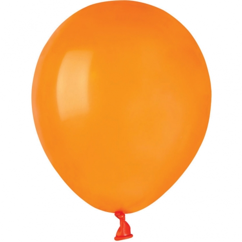 50 Ballons Orange Mat Ø13cm