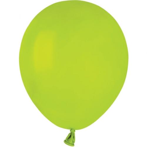 50 Ballons Vert anis Mat Ø13cm