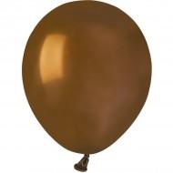50 Ballons Marron Mat Ø13cm