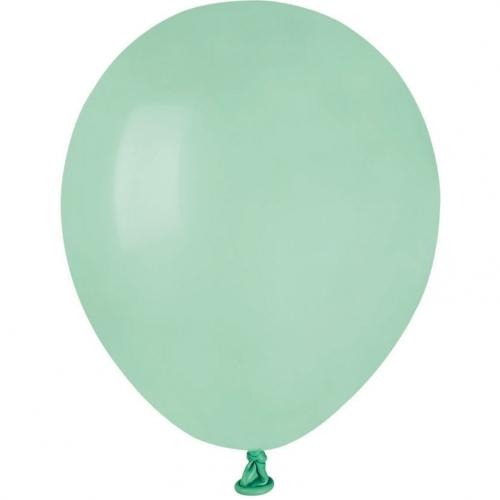 50 Ballons Vert eau Mat Ø13cm