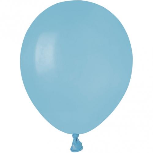 50 Ballons Bleu pastel Mat Ø13cm