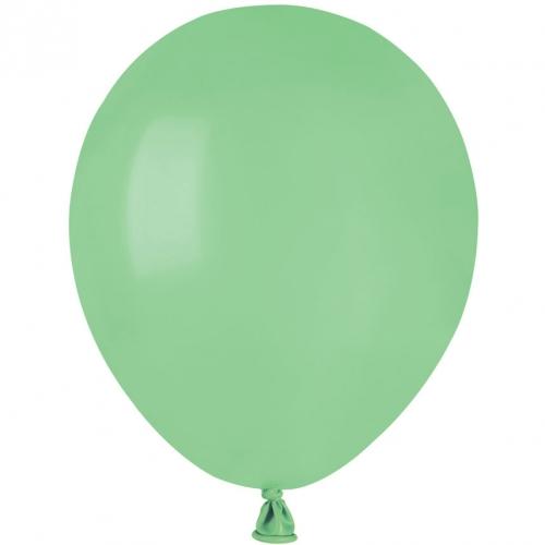 50 Ballons Vert menthe Mat Ø13cm