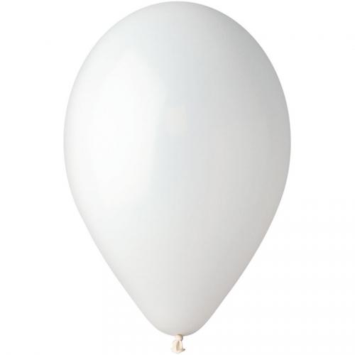 10 Ballons Blanc Mat Ø30cm
