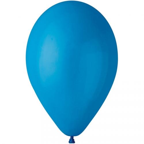 10 Ballons Bleu Mat Ø30cm