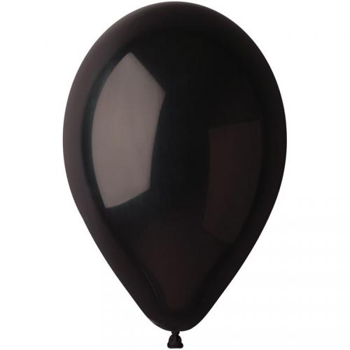 10 Ballons Noir Mat Ø30cm