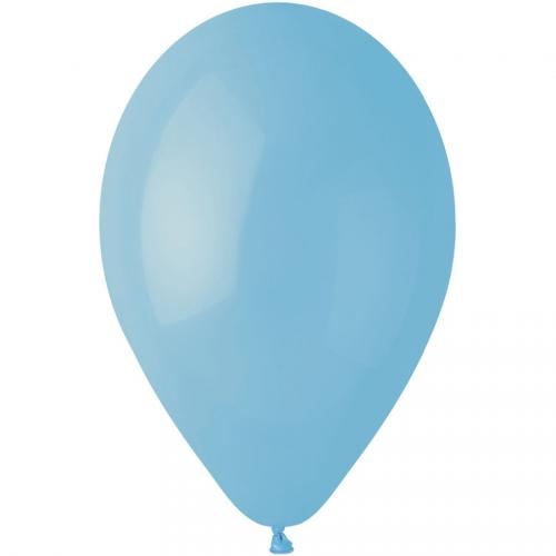 10 Ballons Bleu pastel Mat Ø30cm