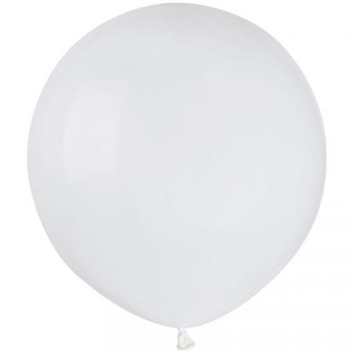 10 Ballons Blanc Mat Ø48cm