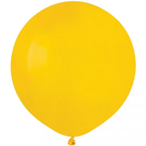 10 Ballons Jaune Mat Ø48cm