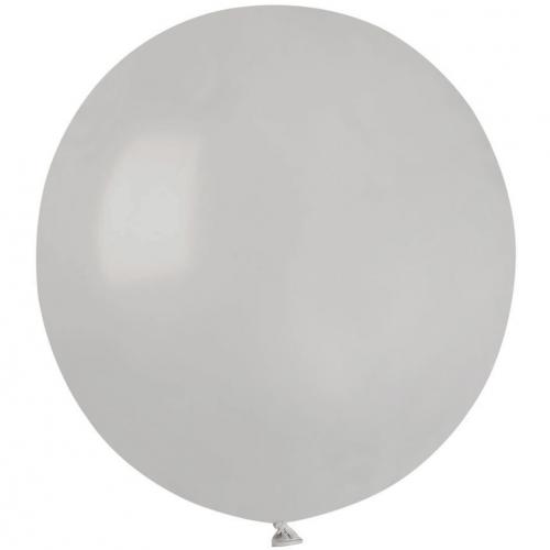10 Ballons Gris Mat Ø48cm