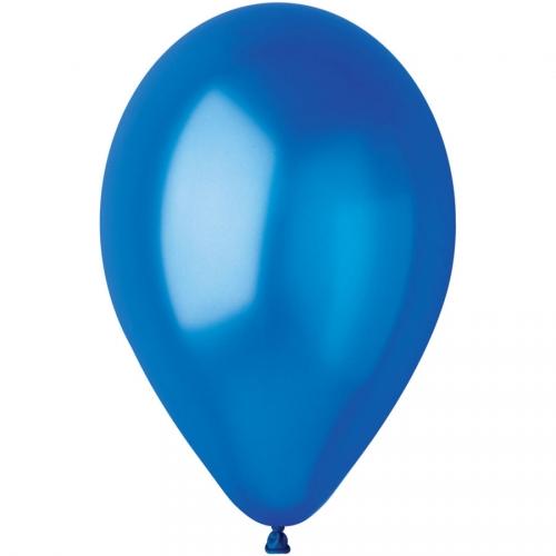 10 Ballons Bleu roi Nacré Ø30cm