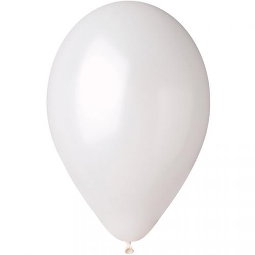 10 Ballons Blanc Nacré Ø30cm