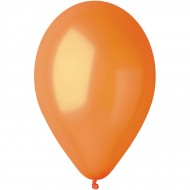 10 Ballons Orange Nacré Ø30cm