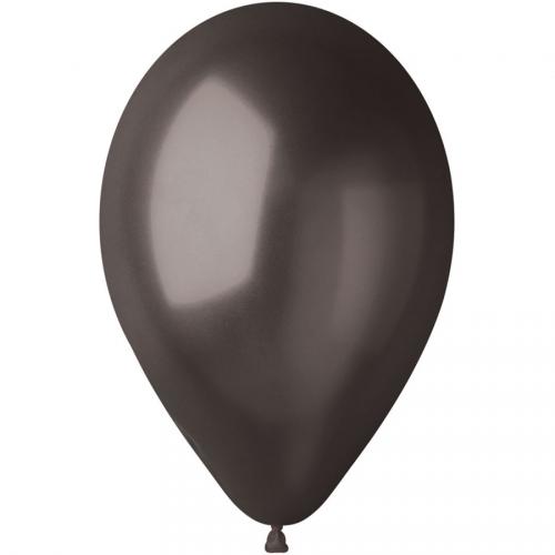10 Ballons Noir Nacré Ø30cm