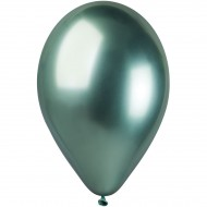 5 Ballons Vert Chromé Ø33cm