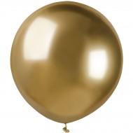 3 Ballons Or Chromé Ø48cm