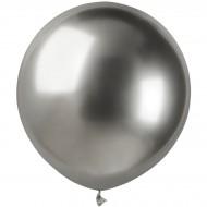 3 Ballons Argent Chromé Ø48cm
