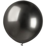 3 Ballons Noir Chromé Ø48cm