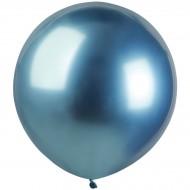 3 Ballons Bleu Chromé Ø48cm