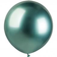 3 Ballons Vert Chromé Ø48cm