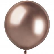 3 Ballons Rose Gold Chromé Ø48cm