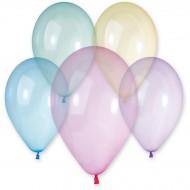 10 Ballons Rainbow Cristal Ø33cm