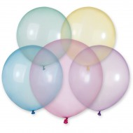 5 Ballons Rainbow Cristal Ø48cm