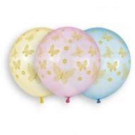 3 Ballons Papillon Ø48cm