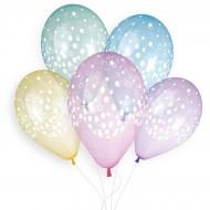5 Ballons Confettis Ø33cm
