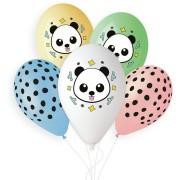 5 Ballons Panda Ø33cm