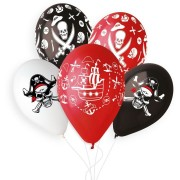 5 Ballons Pirate Ø33cm