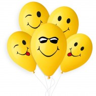 5 Ballons Smile Ø33cm