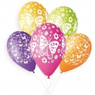 5 Ballons Papillon Ø33cm