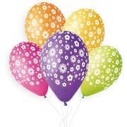 5 Ballons Fleurs Ø33cm