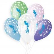 5 Ballons Sirène Ø33cm