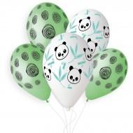 5 Ballons Panda Bamboo Ø33cm