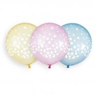 3 Ballons Confettis Ø48cm