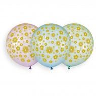 3 Ballons Fleurs Ø48cm