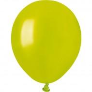 50 Ballons Vert anis Nacré Ø13cm