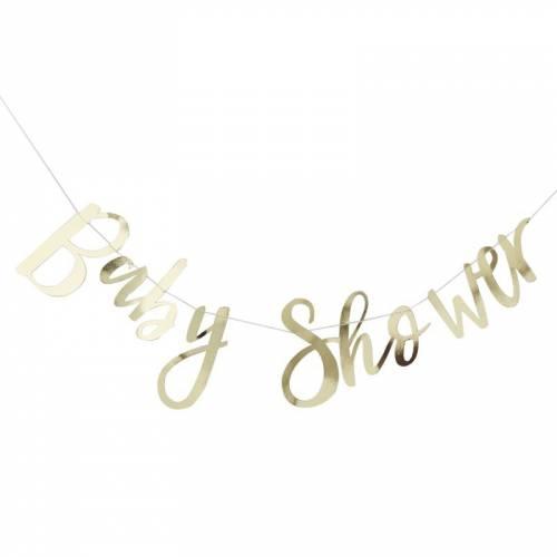 Guirlande Baby Shower - Or